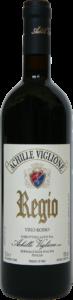 Bottiglia di vino rosso Regio Achille Viglione