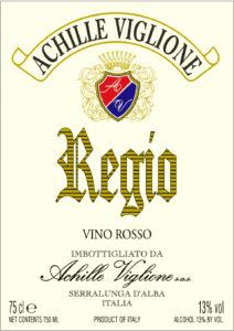 Etichetta vino rosso Regio