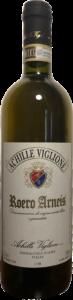 Bottiglia di vino bianco Roero Arneis Achille Viglione